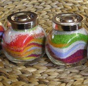 Рисунки из песка цветного