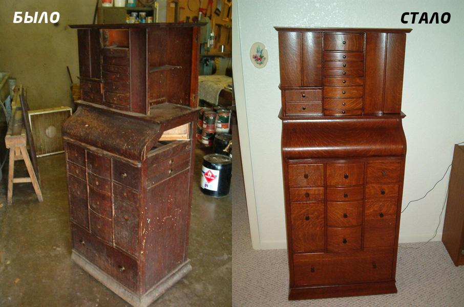 Обновить деревянный шкаф своими руками