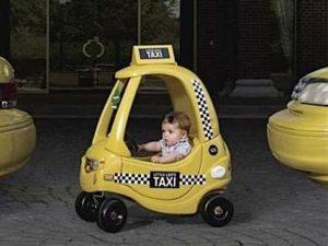 Актуально в большом городе - такси с детским креслом